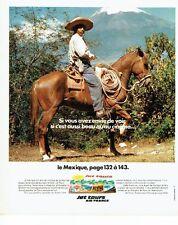 PUBLICITE ADVERTISING 037  1975  Jet Tours Air France  Le Mexique