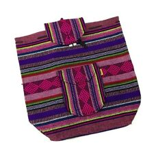 Authentic RASTA Bag Beach Hippie Baja Ethnic Backpack Made in Mexico Colorful