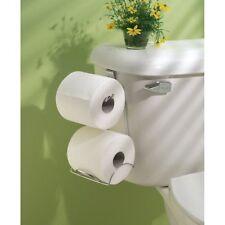 Over The Tank Tissue Mount Holder Chrome Toilet Paper Bathroom Storage Rack