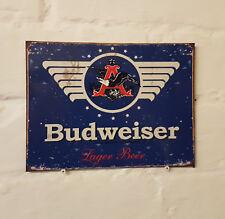 Budweiser Cerveza más Grande Retro Vintage Pub Bar Signo de Metal de Aluminio Cerveza signos Cueva