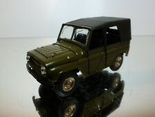 MADE IN USSR CCCP UAZ 469 - ARMY GREEN 1:43 - GOOD CONDITION - 2/3