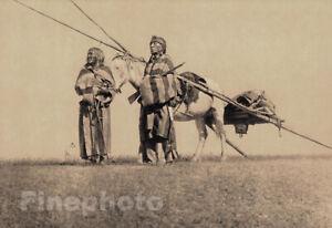 1900/72 EDWARD CURTIS Folio Native American Indian Blackfoot Travois Photo 16X20