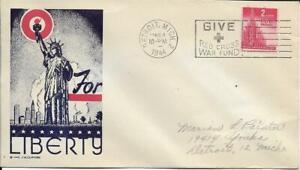 For Liberty Clifford Patriotic Cachet PM Detroit MI PM Mar 4 1944