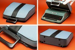 Cleaned 1965 Olivetti Underwood Lettera 32 Ultra Portable typewriter Italy Works