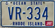 GENUINE American Rhode Island Anchor USA License Licence Number Plate Tag VR-334