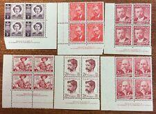 1948-49 Selection of 6 different Aust Pre Decimal Imprint Blocks of 4 (MUH)