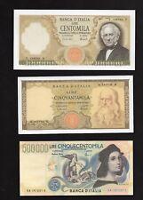 3 Riproduzioni Banconota 100000 Marconi,500000 Raffaello,50000 Leonardo