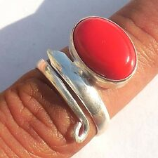 ONLINE SALE JEWELRY RED AGATE GEMSTONE! 925 STERLING SILVER! OVERLAY RING!
