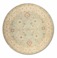 8' x 8' Hand knotted Round Persian Oriental 100% Wool Area Rug Soumak Flat