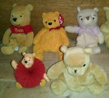 Lot Of 5 1990s Winnie the Pooh Beanie Plush - Gund, Classic, Ty Poopsie, Koosh