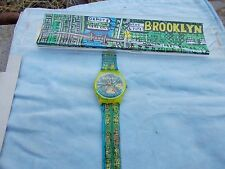 PASSAGE TO BROOKLYN! Swatch with BROOKLYN ART MAP by G. PANTER ! NIB-RARE!