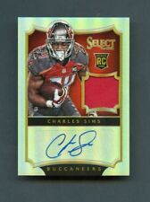 2014 Charles Sims Panini Select Prizm Refractor Rookie RC Jersey Patch Auto /49