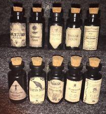 LABELS ONLY Knockturn Alley Dark Arts Potion Apothecary Bottles Harry Potter