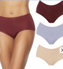Rhonda Shear Women's Invisible Pull-on Panty 3-pack - Wine Multi - LARGE - NWT