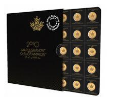 2020 Canada Gold 1 Gram Maple Leaf .9999 Fine from maple gram sheet
