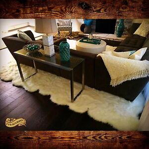 Random Country Edge Sheep Pelt Rug Large White Shag Area Carpet Designer Rug