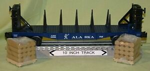 Lionel 26369 Alaska ARR Bulkhead Flatcar w/ Remv 2 Wood Pallet Load (O/027) '07