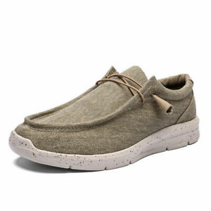 Men's Lightweight Slip On Loafer Walking Driving Casual Sneakers Canvas Shoes