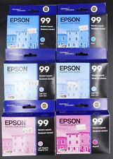 6X Genuine Epson 99 Inks For Artisan 700, 800 Printers. Expired   #50386