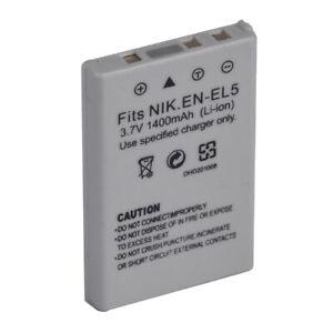 New EN-EL5 Replacement Battery for Nikon CoolPix P500 P510 P520 P530 P6000 P3 P4