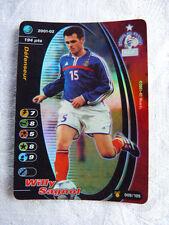 Rare Carte Football Champion FOIL Wizards 2001-02 Willy Sagnol Maillot Bleu