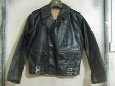 Vintage 40'S BELSTAFF Rubber Perfecto Motorcycle Jacket Size M Swift Zips
