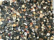 2.25+ lbs Black Grey Brown Buttons Assorted Vintage Antique Collect Crafts Sew A