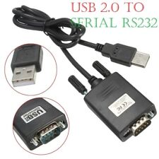 USB 2.0 to Serial RS-232 RS232 DB9 9 Pin Adaptor Converter Cable Lead Wire A++