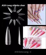 Makartt 500 Pcs Coffin Nails Clear Ballerina Full Cover Acrylic False 10 Sizes