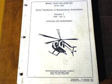 McDonnell Douglas 500D Helicopter Model 369D Service Manual, Vol 1