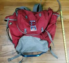NICE Vintage Bergans Frame Backpack Hiking Bag Camping Red Oslo Norway Climbing