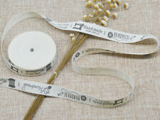 6M Beige Cotton Handmade Label Ribbon Tag For DIY Crafts & Sewing Accessories