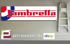 Lambretta Scooters Banner, Workshop, Garage, Man Cave, PVC banner with Eyelets,