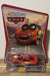Disney Pixar Cars World Of Cars Spin Out Lightning McQueen Rare!
