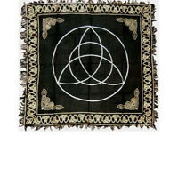 Altar Cloth 36x36 inch: Gold Triquetra | Pagan | Witch | Goth