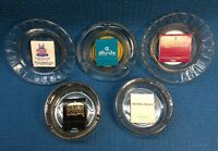 Vintage Lot - 5 Las Vegas Casino Ashtrays & Matchbooks Sands, Dunes, Caesars Etc