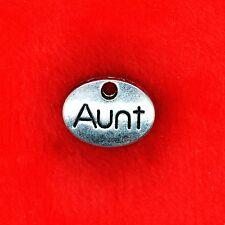 """6 x plaque Oval Argent Tibétain """"Tante"""" Charme Pendentif fabrication de bijoux"""