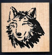 SIBERIAN HUSKY FACE MUSH DOG SLED Pet NEW ART IMPRESSIONS K-3272 RUBBER STAMP