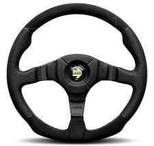 Momo Dark Fighter Black Leather & Alcantara Steering Wheel 350mm