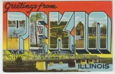 [66366] Old Large Letter Postcard Greetings from Pekin, Illinois