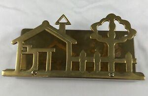 Brass Letter Mail Holder Vintage Home Decor House Wall Desk