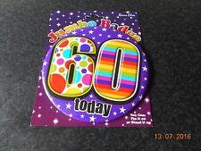 55mm de tamaño. Insignia de cumpleaños de niño de 5 años de edad con Clip de plástico