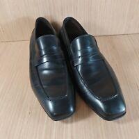 Donald J Pliner Black Leather Slip-on Loafers Men 9.5