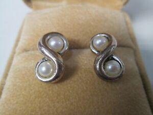 Tiffany & Co. Pearl Sterling Silver Post Earrings  #5
