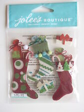 JOLEE'S BOUTIQUE STICKERS - STUFFED STOCKINGS Christmas