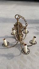 ornate 5 arm chandelier needs some work   (LT 480)