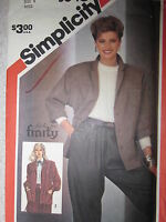 5640 VINTAGE Simplicity Sewing Pattern misses RICKI FOR FINITY DESIGN Jacket OOP