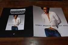 LENNY KRAVITZ - Plan média / Press kit !!! GREATEST HITS !!!
