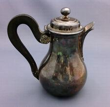Rare petite verseuse en argent fond plat - Orfevre Baschelet Quentin  1819-1838