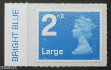 2nd Large NVI - No Code - BRIGHT BLUE Colour Tab  from Counter Sheet SG; U2943